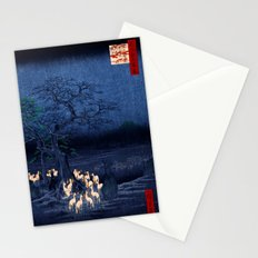 Hiroshige New Year's Eve Foxfires at the Changing Tree, Oji Stationery Cards