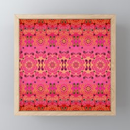 Pink Haze Bandana Ombre' Stripe Framed Mini Art Print