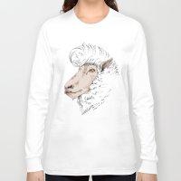 rockabilly Long Sleeve T-shirts featuring Rockabilly Sheep by TurkeysDesign