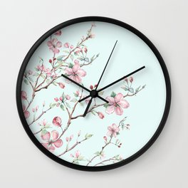 Apple Blossom #society6 #buyart Wall Clock