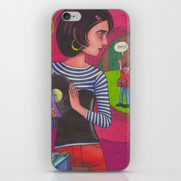Disco Girl iPhone Skin