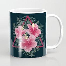 Tropical Flowers. Pink Hibiscus Coffee Mug