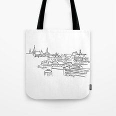 Vyšehrad - View from the castle Tote Bag