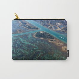 Aerial Photograph | Intracoastal Waterway | Wilmington North Carolina Carry-All Pouch