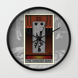 The Hanged Man - Tarot Card Wall Clock