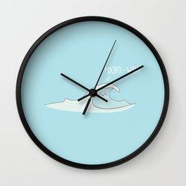 Micro-Wave #kawaii #wave Wall Clock