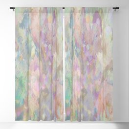 Sweet Spring Pastel Floral Abstract Blackout Curtain