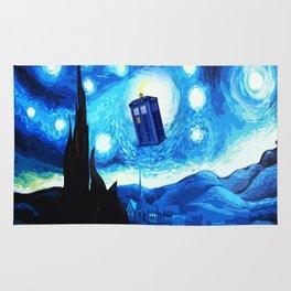 Starry Night Blue Phone Box Rug