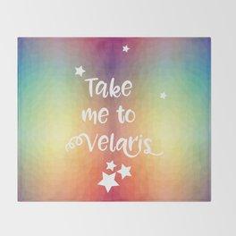 Take Me To Velaris - Night Court Print -A Court of Mist and Fury Rainbow Throw Blanket