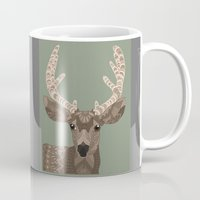 antlers Mugs featuring Antlers by ArtLovePassion