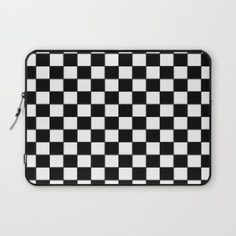 Checkers - Black and White Laptop Sleeve