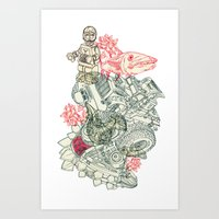 chaos Art Prints featuring Chaos by Tin Salamunic