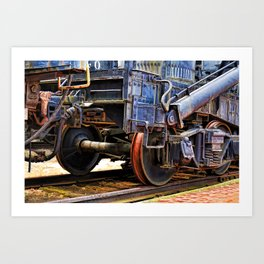 Railcar Abstract Art Print