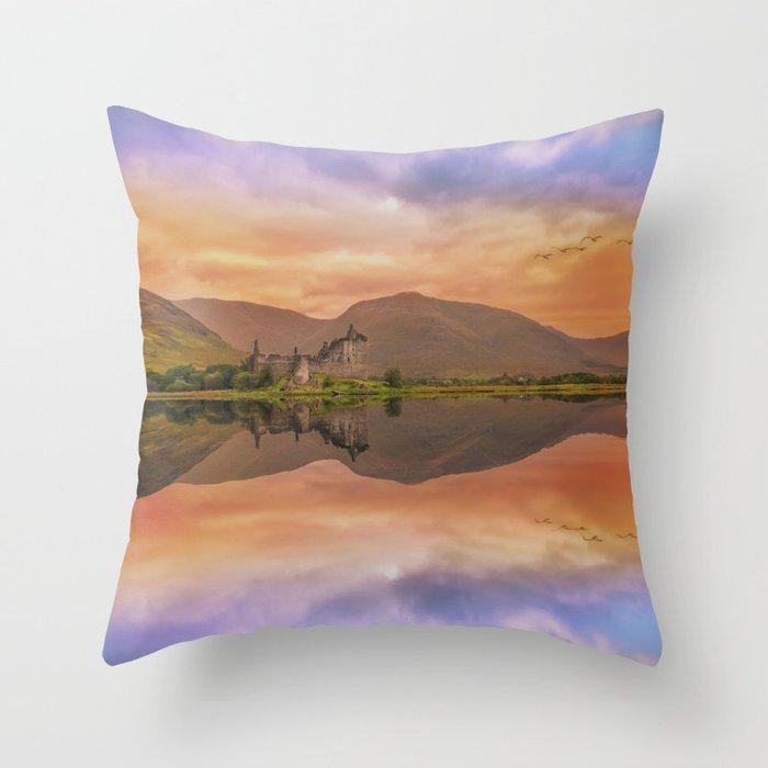 Castle View Throw Pillow