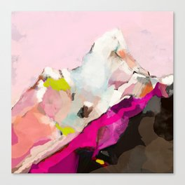 landscape mountain painting abstract Canvas Print