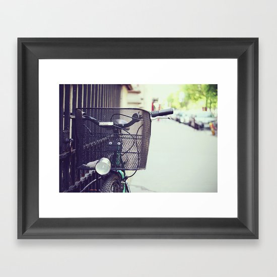 Bike in Paris Framed Art Print