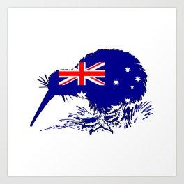 Australian Flag - Kiwi Bird Art Print
