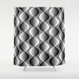 Abstract geometric grayscale pattern  Shower Curtain