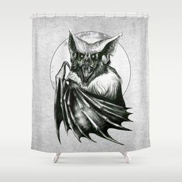 Bloodlust - Black and white Shower Curtain