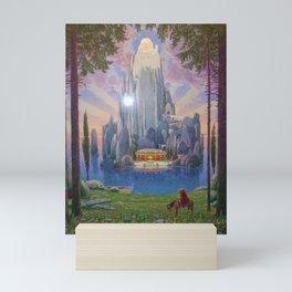 The Secret Kingdom magical realism landscape painting by Joseph Madlener Mini Art Print