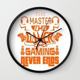 Gaming Master Online Gamer Video Game Fan Gift Idea Wall Clock