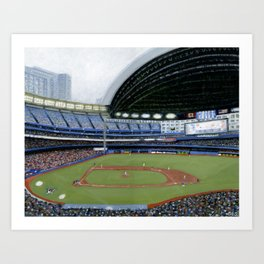 Jays Game Art Print