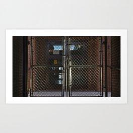 Fenced Off Art Print