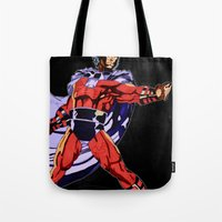 magneto Tote Bags featuring Magneto by Joynisha Sumpter