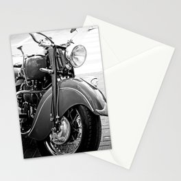 Motorcycle-B&W Stationery Cards