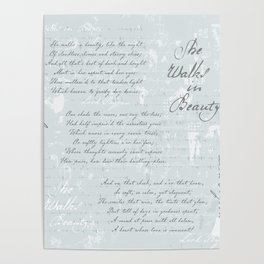 She Walks in Beauty - Lord Byron - poetry Poster