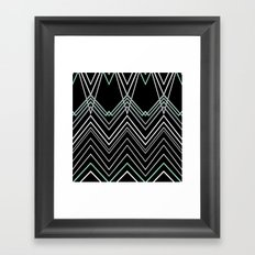 Mint Chevy on Black Framed Art Print