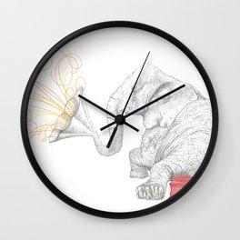 One Elephant Band Wall Clock
