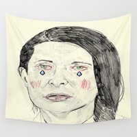 marina Wall Tapestries featuring Marina Abramović by withapencilinhand
