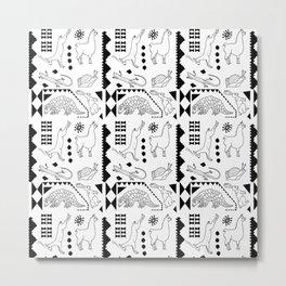 Land Animals Black/White Metal Print