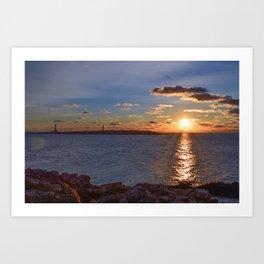 Twin Light Sunrise Art Print