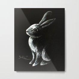 Bunny Painting Metal Print