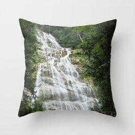 Bridal Veil Waterfalls Throw Pillow
