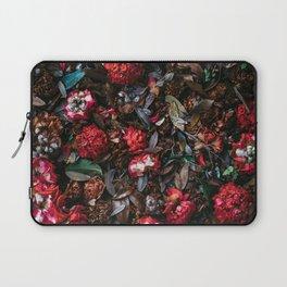 Dark Red Floral Laptop Sleeve