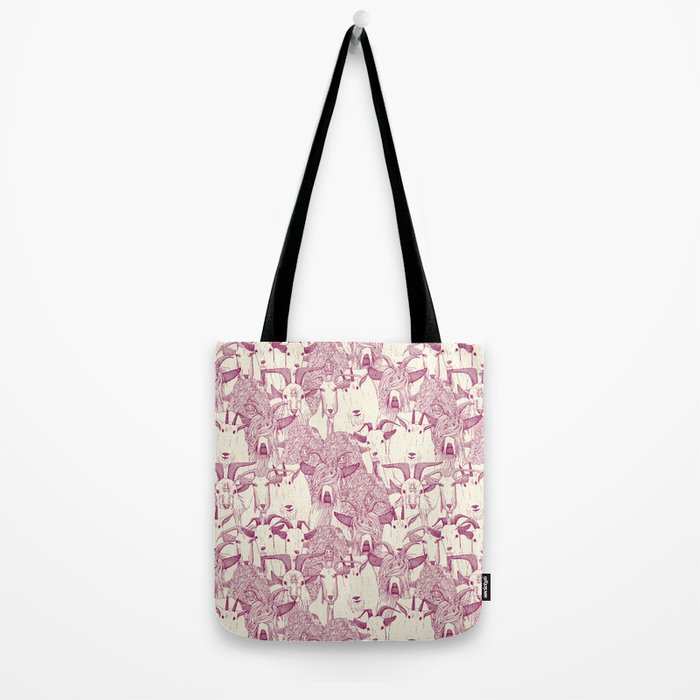 just goats cherry pearl Tote Bag