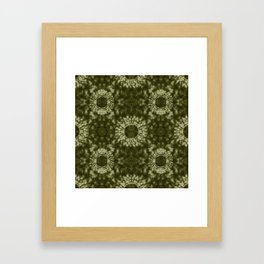 Khaki Shibori Framed Art Print