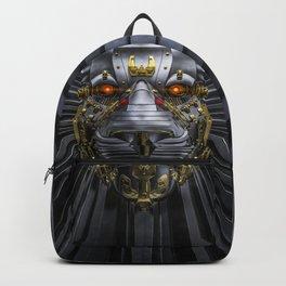 Hear Me Roar / 3D render of serious metallic robot lion Backpack