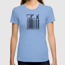 Funny Worker Tradesman Barcode Tool T-shirt