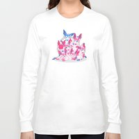 sylveon Long Sleeve T-shirts featuring Sylveon Pile by SilviShinyStar