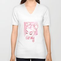 candy V-neck T-shirts featuring Candy  by Laia™