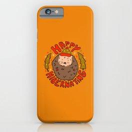 Happy Hibernating iPhone Case