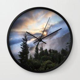 Sunrise Mountains : California Wall Clock