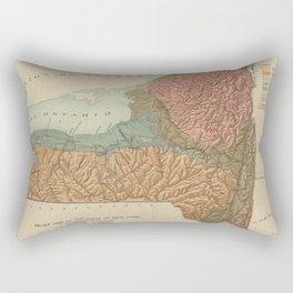 Vintage Geological Map of New York (1898) Rectangular Pillow
