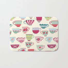 China Teacups Bath Mat