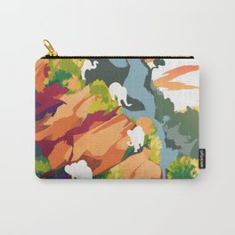 Elephants on the rock Carry-All Pouch