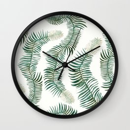tropical leves wild Wall Clock